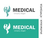 medical pharmacy logo template. ... | Shutterstock .eps vector #474926416