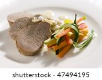 veal fillet - stock photo