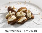 stuffed dates - stock photo
