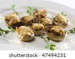 stuffed mushrooms - stock photo