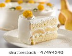 pear cake - stock photo