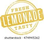 fresh lemonade vintage stamp | Shutterstock .eps vector #474945262