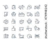 set of delivery icons black... | Shutterstock .eps vector #474948142