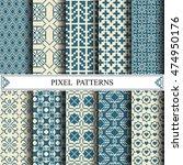 pixel pattern  textile  web... | Shutterstock .eps vector #474950176