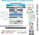 webdesigners toolkit   complete ...   Shutterstock .eps vector #47495569
