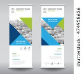 roll up business brochure flyer ... | Shutterstock .eps vector #474958636