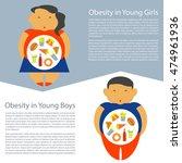 obesity infographic template  ... | Shutterstock .eps vector #474961936