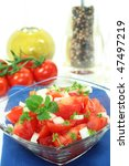 tomato salad with fresh herbs | Shutterstock . vector #47497219