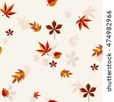 autumn vector pattern. hand... | Shutterstock .eps vector #474982966