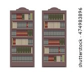 Bookcase With Different Books....
