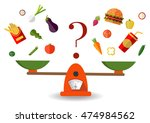 concept of weight loss  healthy ...   Shutterstock .eps vector #474984562
