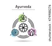 ayurveda vector illustration... | Shutterstock .eps vector #474988276