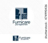 abstract furniture logo design... | Shutterstock .eps vector #474990436