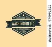 hexagonal emblem with the text... | Shutterstock .eps vector #474991822