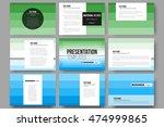 set of 9 templates for... | Shutterstock .eps vector #474999865