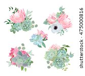 stylish small bouquets of... | Shutterstock .eps vector #475000816