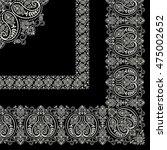 scarf ornament design   Shutterstock .eps vector #475002652