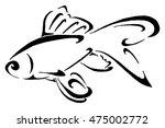 fish tribal tattoo   Shutterstock . vector #475002772