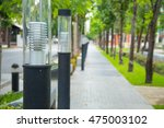light pole with footpath with... | Shutterstock . vector #475003102
