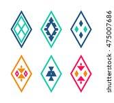 tribal elements. ethnic pattern ... | Shutterstock . vector #475007686