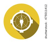 compass  icon.   Shutterstock .eps vector #475011412