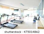 blurred fitness room  | Shutterstock . vector #475014862
