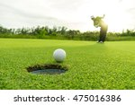 golfer action to win after long ... | Shutterstock . vector #475016386