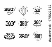 360 degrees view sign  icons... | Shutterstock .eps vector #475023532
