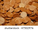 pile of brown chocolate coins | Shutterstock . vector #47502976