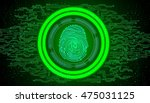 fingerprint with concept green... | Shutterstock .eps vector #475031125