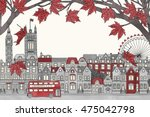 london  uk in autumn   hand... | Shutterstock .eps vector #475042798