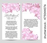 vintage delicate invitation... | Shutterstock .eps vector #475044076