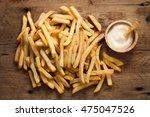 fries french sour cream still... | Shutterstock . vector #475047526
