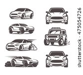 car icons set suv sedan 4x4... | Shutterstock .eps vector #475054726