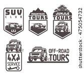 suv 4x4 off road icon logo... | Shutterstock .eps vector #475054732