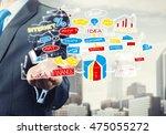 man sketching business ideas  | Shutterstock . vector #475055272