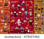 vintage halloween poster design ...   Shutterstock .eps vector #475057402