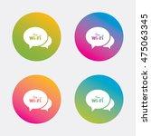chat speech bubbles. free wifi... | Shutterstock .eps vector #475063345