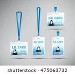 id card woman blue | Shutterstock .eps vector #475063732