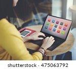 e learning online education... | Shutterstock . vector #475063792