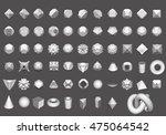 set of 64 geometric shapes... | Shutterstock .eps vector #475064542