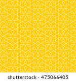 seamless islamic pattern with... | Shutterstock .eps vector #475066405