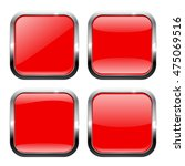 red square buttons with... | Shutterstock . vector #475069516