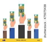 hands offering money....   Shutterstock .eps vector #475075438