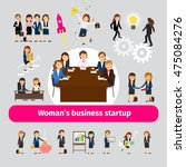 professional woman business... | Shutterstock .eps vector #475084276