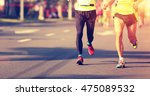 unidentified marathon athletes... | Shutterstock . vector #475089532