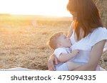 beautiful happy mother...   Shutterstock . vector #475094335