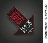 down arrow for black friday... | Shutterstock .eps vector #475095832