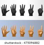 3d vector polygonal counting... | Shutterstock .eps vector #475096882