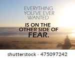 inspiration quote. | Shutterstock . vector #475097242